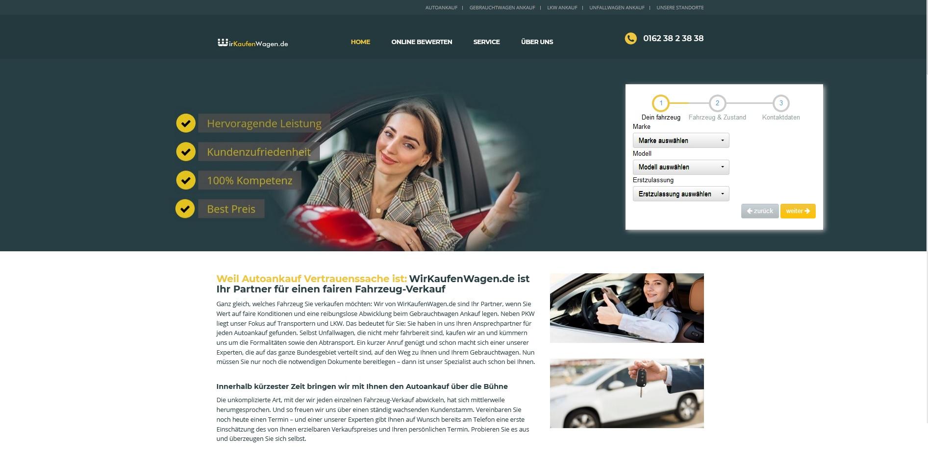 Unfallwagen Ankauf: wirkaufenwagen.de ankauf zum Höchstpreis
